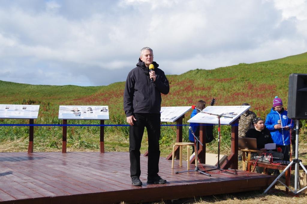 губернатор Камчатского края Владимир Викторович Солодов на острове Беринга
