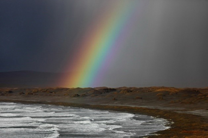 Rainbows on the islands are frequent in autumn. Photo by Eugene Mamaev