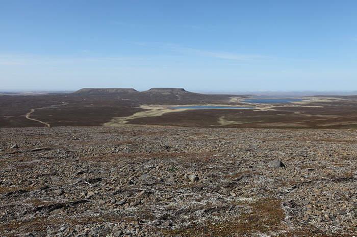 The northern part of Bering Island was formed during the 2nd stage of volcanism on the islands. Photo by Eugene Mamaev